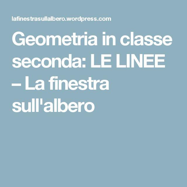 Geometria in classe seconda: LE LINEE – La finestra sull'albero
