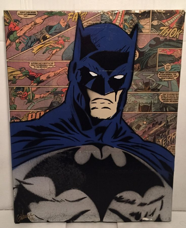 Batman Comic Book Spray Painting