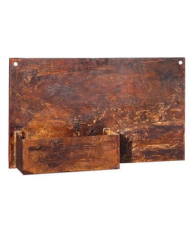 Another great find on #zulily! Rust Finish Metal Wall Planter #zulilyfinds