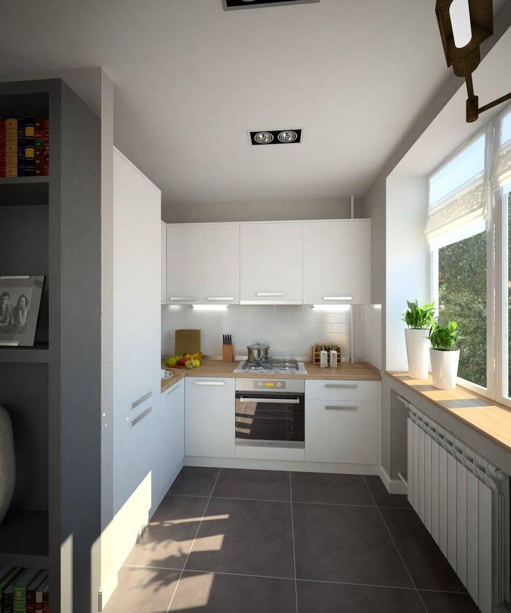 Создаем дизайн маленькой кухни 6 кв. м: 50 фото ...