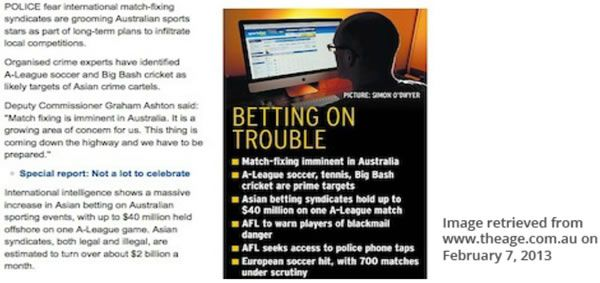 "ACC Investigation into drugs in sport. ""Betting on trouble"""