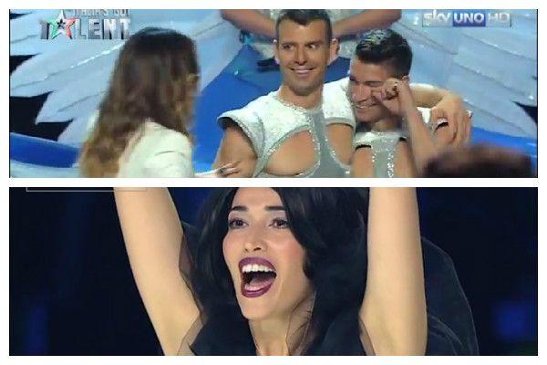 WATCH: Nina Zilli helps acrobat propose to his boyfriend on live tv
