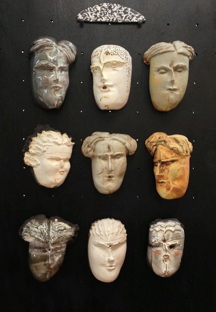 Cerámica & Vidrio: Mascaras de ceramica gres