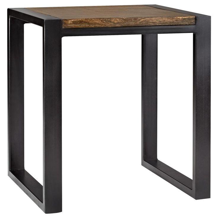 Atelier chic industriel table gigogne en bois avec for Table exterieur rona