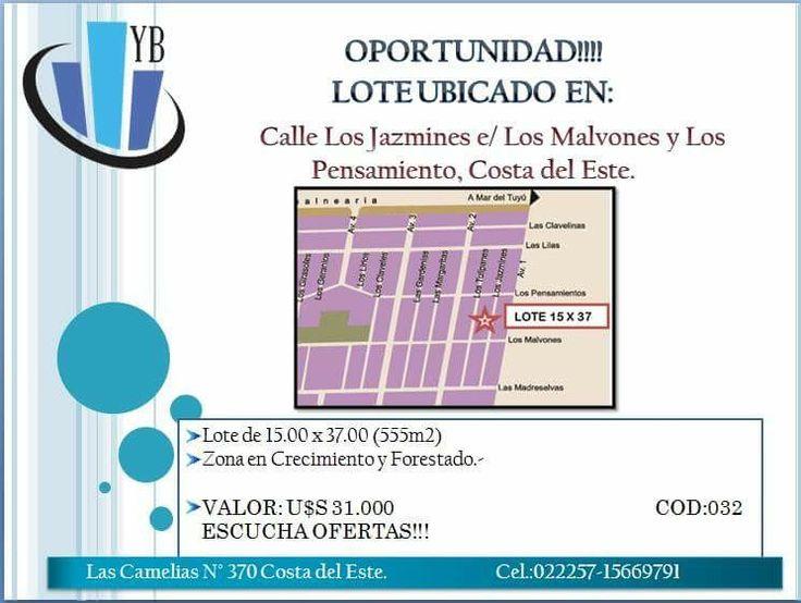 Oportunidad! LOTE 15.00 x 37.00 U$S 31.000 Escucha Ofertas!!!