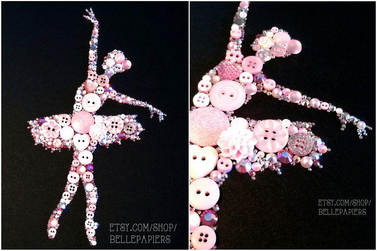 Button & Swarovski Ballerina! Amazing gift for a little girl or any dancer!