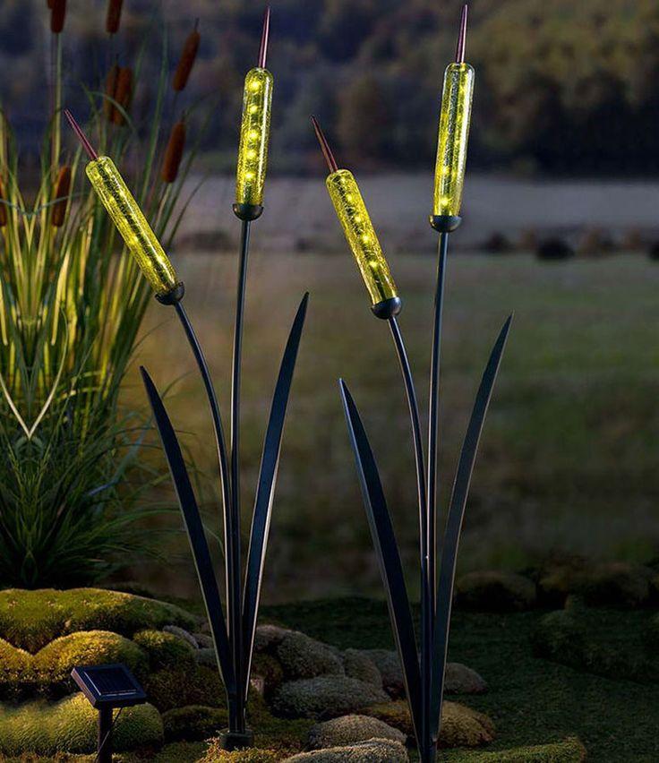 Садовые фонари в виде рогоза