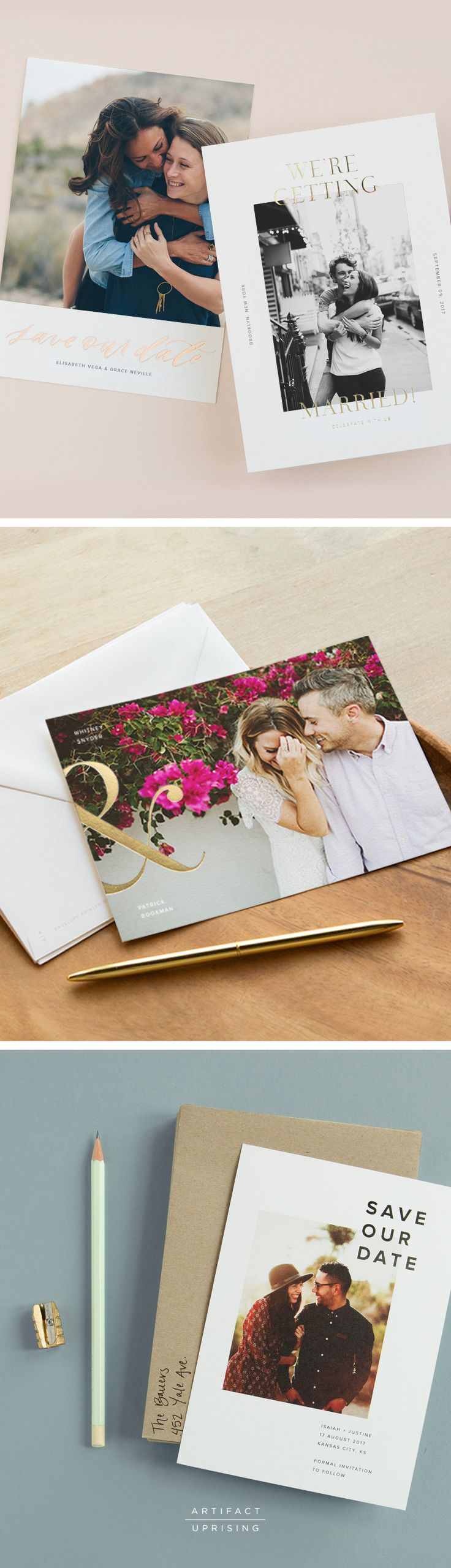 Make it official with @artifactuprsng's Save the Dates. Elevated quality meets well-thought-out design.