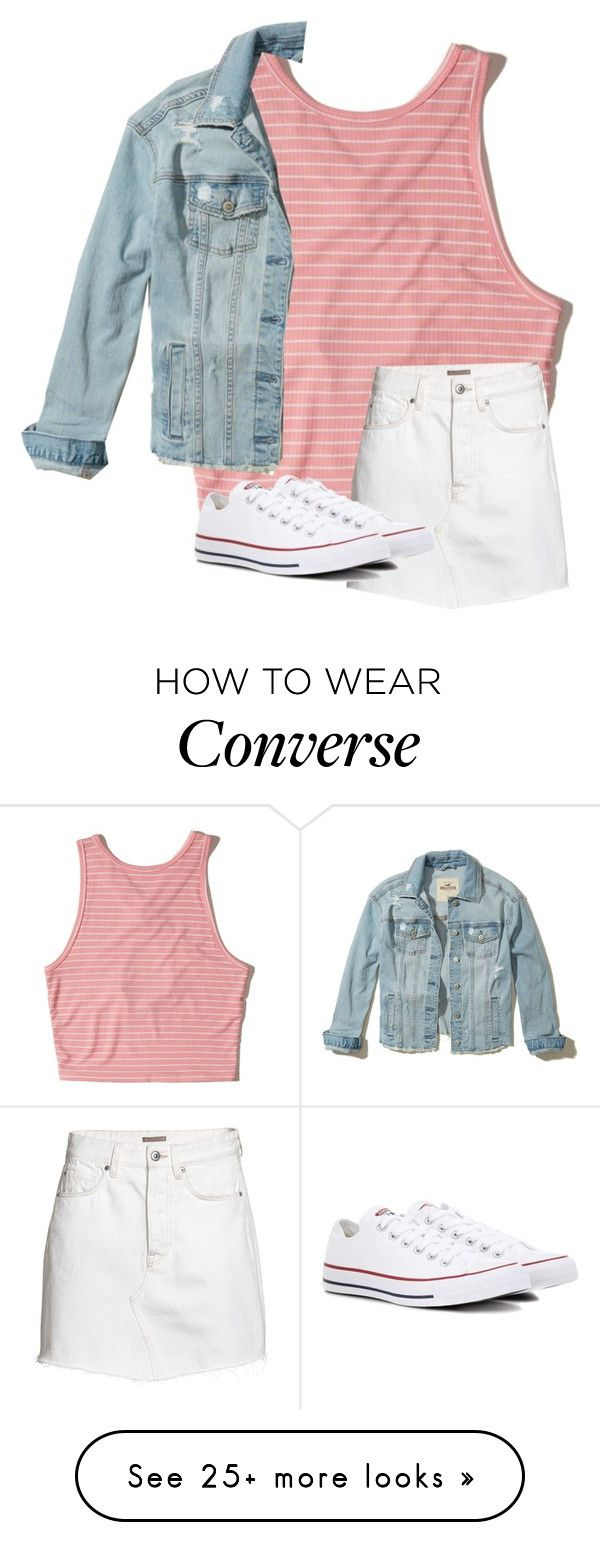 """Untitled #4386"" by laurenatria11 on Polyvore featuring Hollister Co., H&M and Converse"
