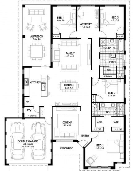 Kidman Floor Plan - Love the luxury master suite to the front of the home with twin walk in robes and ensuite with twin 'His' and 'Her' vanity basins, double shower and separate WC