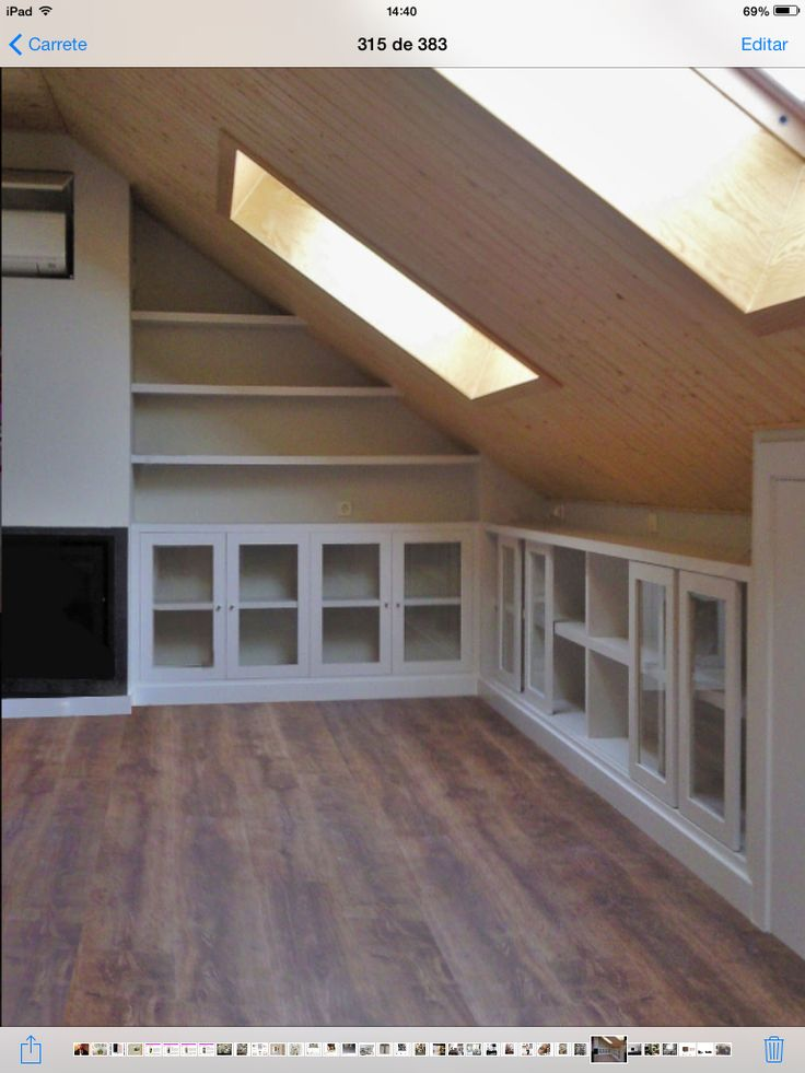 Home Decoration: Attic - Closet Space under roof