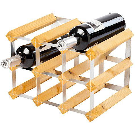 Buy Traditional Wine Rack Co. Redwood Wine Rack, 9 Bottle, Light Wood Online at johnlewis.com