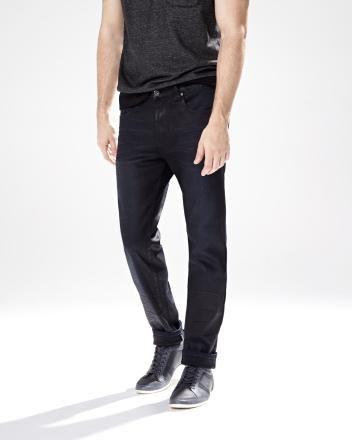 Modern slim fit Nathan premium stretch jean in dark blue - 32   inseam