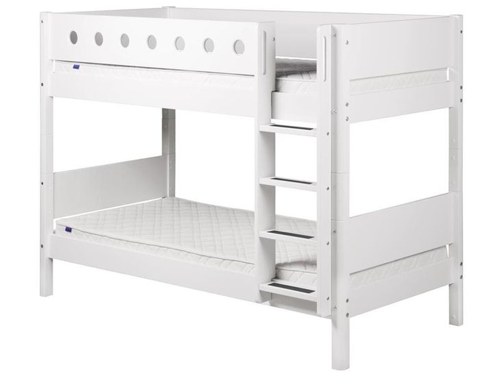 Etagenbett 90x200cm mit Lattenrost und Gerader Leiter, Flexa White, Jetzt bestellen unter: https://moebel.ladendirekt.de/kinderzimmer/betten/etagenbetten/?uid=6b1921dc-0e6d-582a-8f39-07b92dd4ed8b&utm_source=pinterest&utm_medium=pin&utm_campaign=boards #etagenbetten #stockbett #kinderzimmer #etagenbett #white #flexa #betten