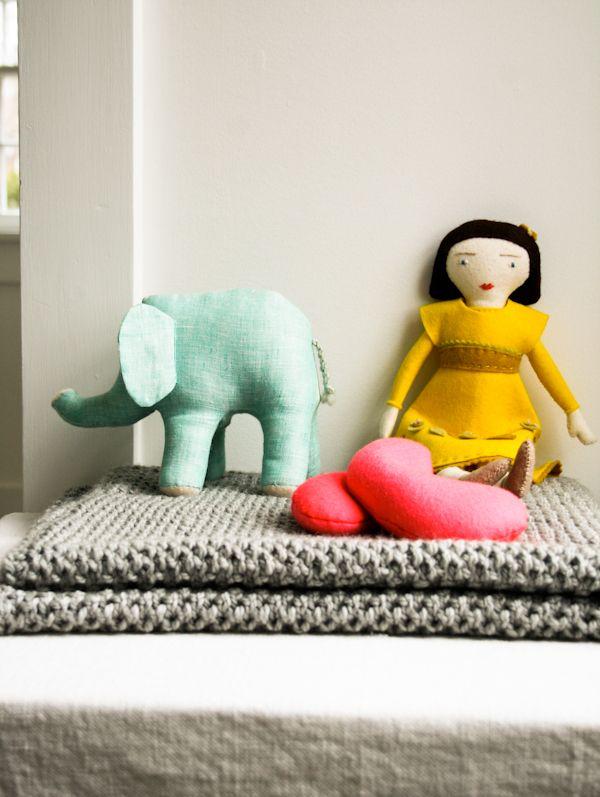 Fluffy Brioche Baby Blanket pattern by Purl Soho