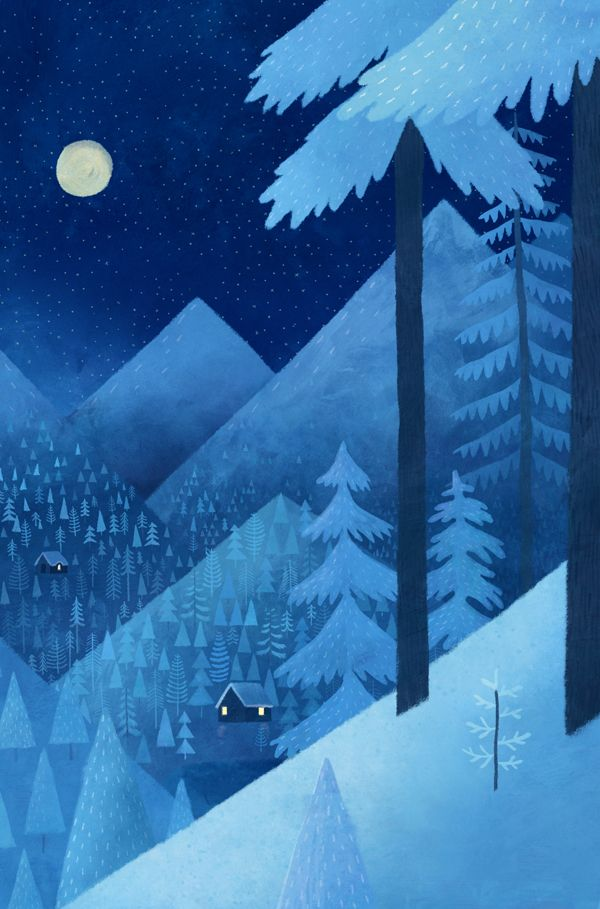 Its summer! Who else wants a cabin on a snowy mountain right now?This is a detail from a big thing I did a while ago.