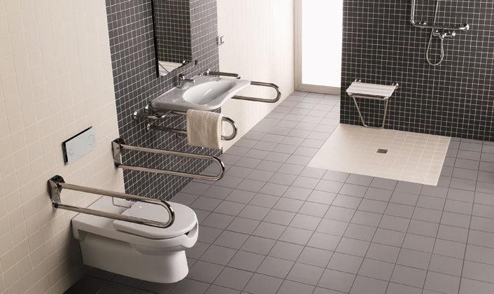 Modernos baños para discapacitados