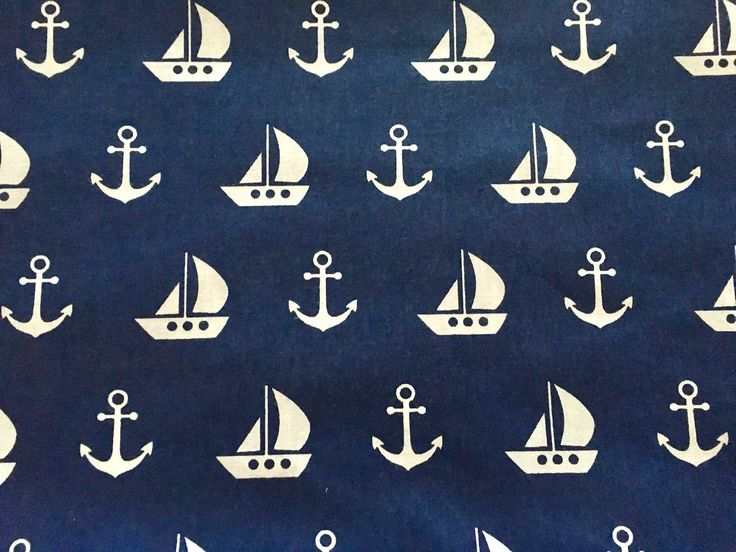 A personal favorite from my Etsy shop https://www.etsy.com/listing/522055647/half-metre-50cm-nautical-fabric-anchor