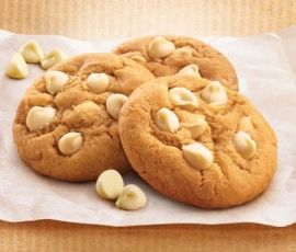White Choc Chip Cookies: Deliciously moorish, we dare you to stop at one!. http://www.bakers-corner.com.au/recipes/cookies/white-choc-chip-cookies/