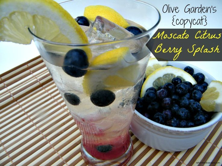 Moscato Citrus Berry Splash - Copy Cat from Olive garden - a perfect summer drink!