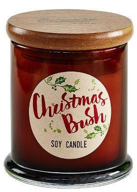Classic Australian Bush Fragrance: Green leafy scent with notes of patchouli, lemongrass and eucalyptus. A christmas candle that actually smells like christmas.