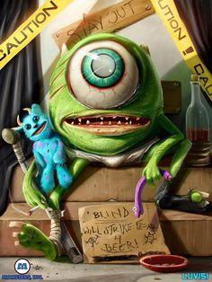 » Dan LuVisi Ilustra la Versión Terrorífica de los Personajes Animados de la Cultura Pop