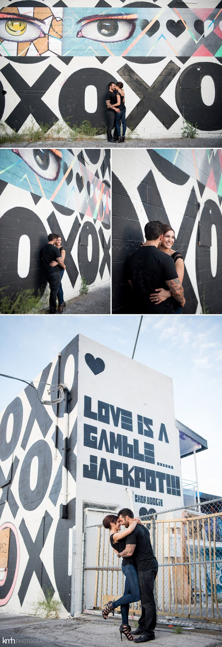 Neon Museum + Downtown Las Vegas Engagement Photography | KMH Photography