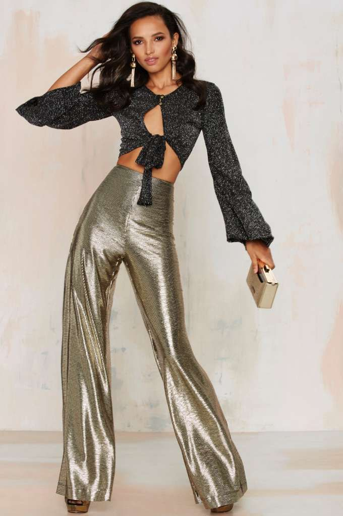 To Bell With Metallic Crop Top - Clothes | Cropped