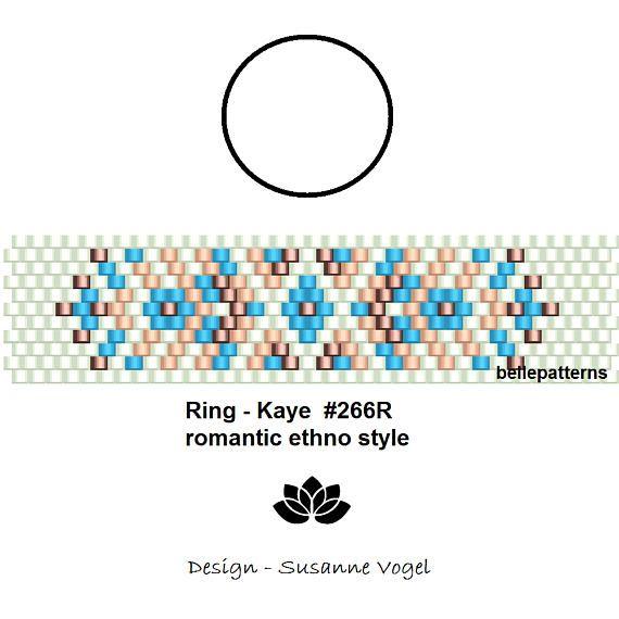 peyote ring patternPDF-Download 266R beading pattern
