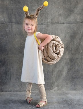 Snail Costume - OMG  I love this. And it seems to be made of all that paper from the amazon boxes.