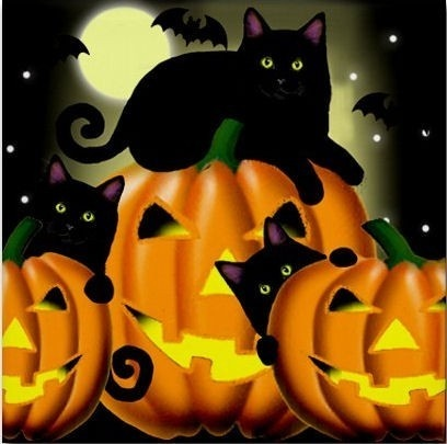 As An Avid Cat Lover I Love The Idea Of Using All Kinds Of Creepy Cool Cats  In My Halloween Decoration Plans. I Find The Combination Of Cats, Pumpkins  And ...
