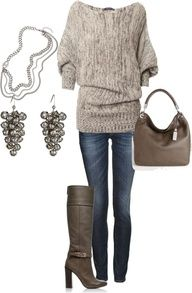 I adore the chunky sweater! Looks fitted enough for shape, but loose enough that it's generous with my curves. Perfect!