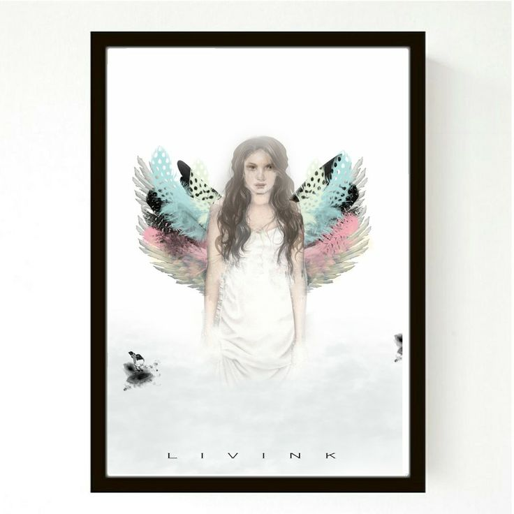 70 X 100 CM - FORUDBESTILLING - COLOURED ANGEL via LIVINK. Click on the image to see more!