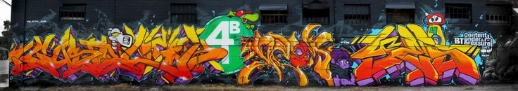 4Burners NYC Graffiti Crew in Texas for Content Under Pressure 2013   Streets Are Saying Things