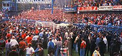 This is called the Hillsborough Disaster - During the FA Cup semi-final match between Liverpool and Nottingham Forest football clubs, a human crush resulted in the deaths of 96 people...
