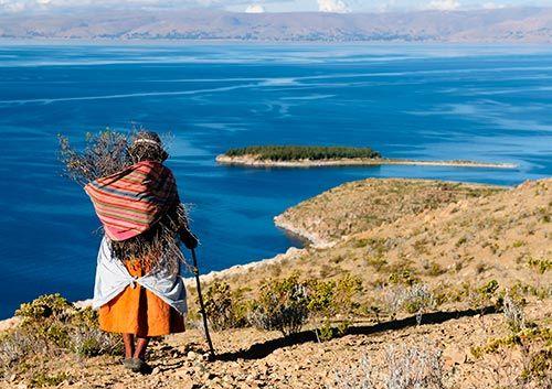 Het Titicacameer in Bolivia