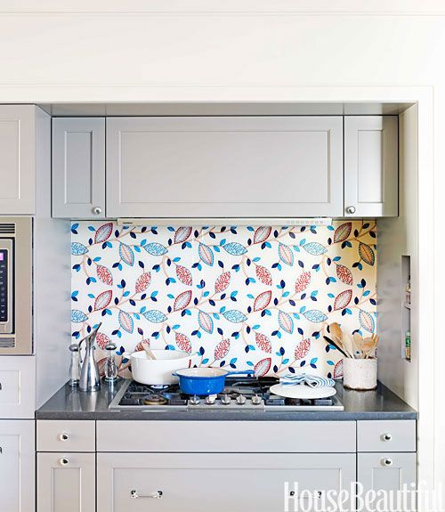 Unique Kitchen Backsplash Idea Fabric Under Glass Kitchen Backsplash Architecture And Tiny