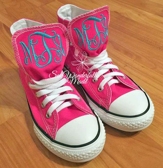 Monogrammed Converse High Top - Youth Converse - High Top Converse - Monogrammed High Tops - Youth Sizes