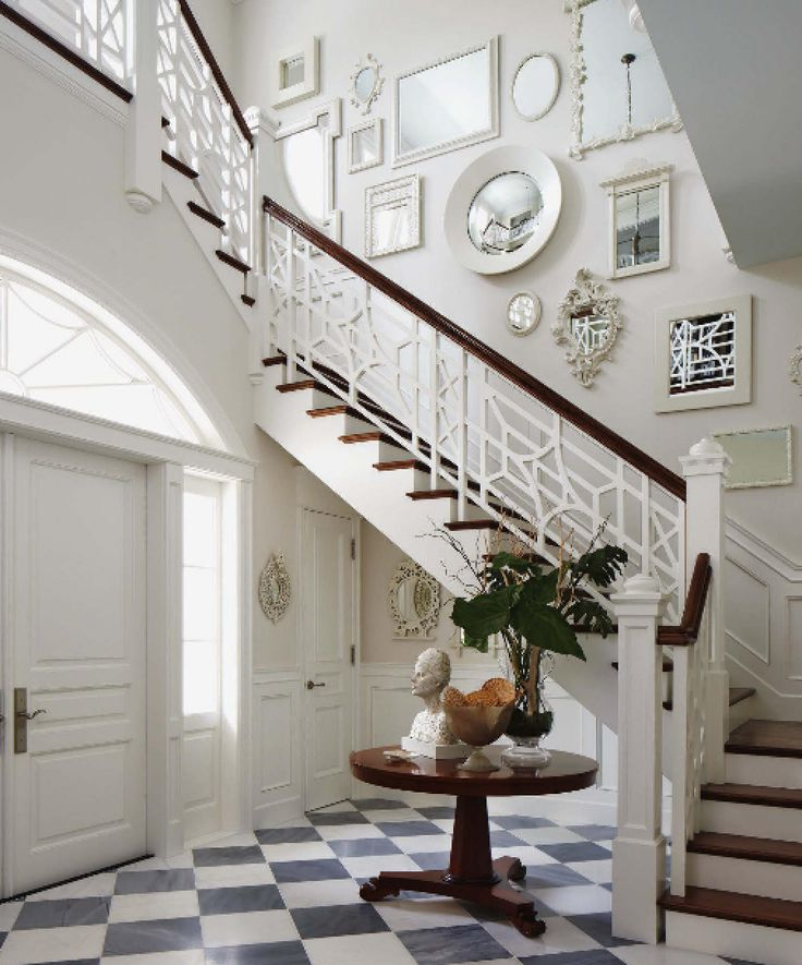 Mirrors on staircase LOVE