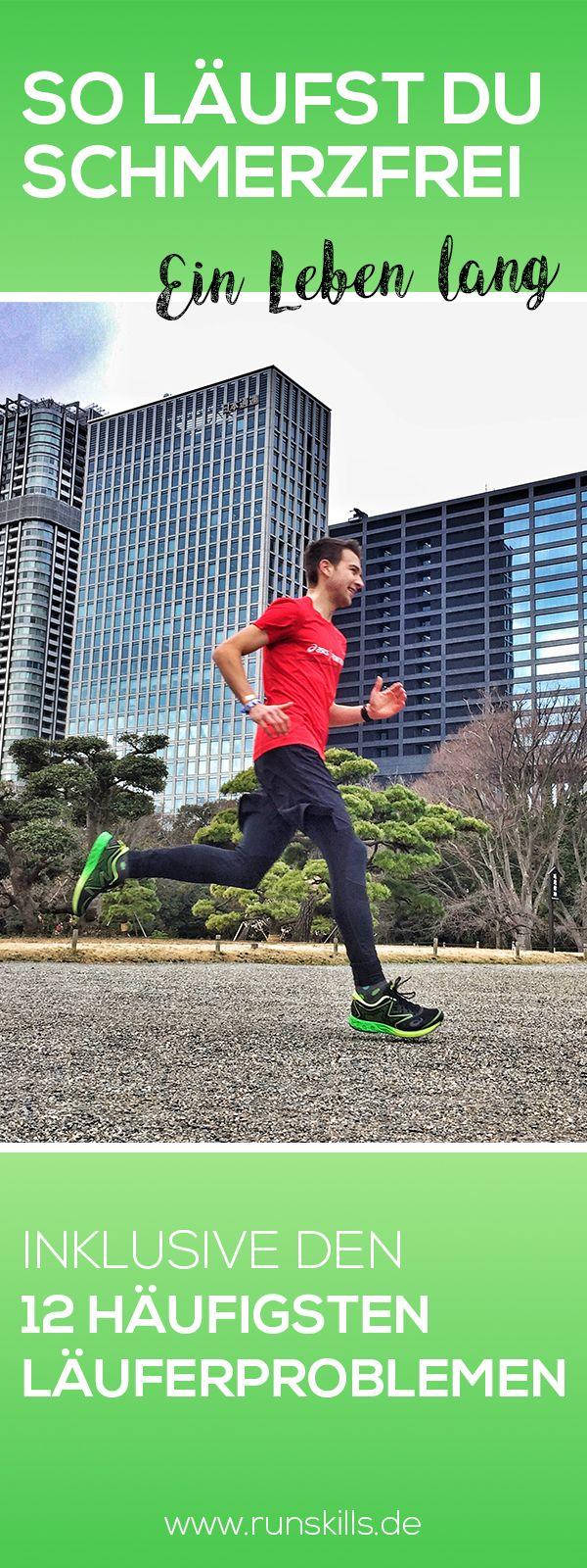 Ein Leben lang verletzungsfrei Laufen?  Das wär's! Aber worauf musst du achten, um wirklich beschwerdefrei zu bleiben? Mit diesen 10 Tipps ist schmerzfreies Laufen möglich. #laufverletzung #lauftipps #läuferprobleme