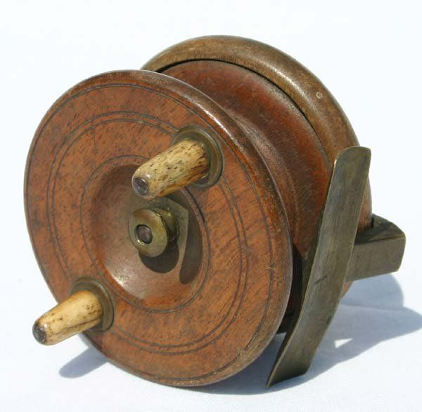 Antique Wooden Fishing Reels Aquamarine In 2019