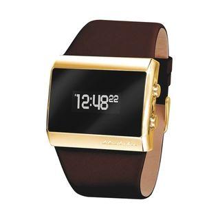 Black Dice Women's Mixtape Goldtone/ Brown Leather Digital Watch - Overstock™ Shopping - Big Discounts on Black Dice More Brands Women's Watches