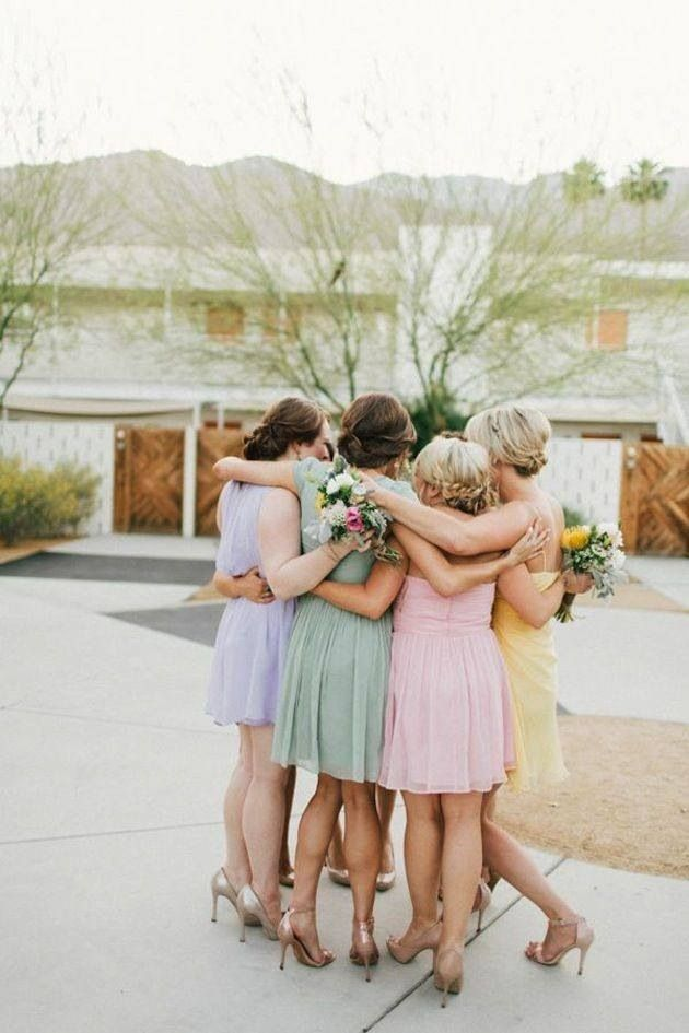 Pastel colors bridemaids