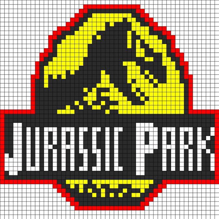 Jurassic Park logo pattern
