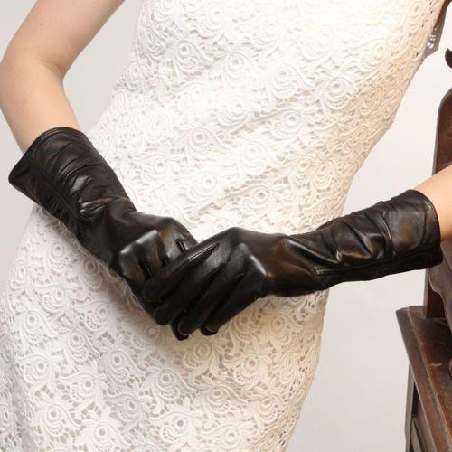 Gant-Cuir-veritable-dagneau-chaleureux-pour-femmes-dhiver-au-chaud-Mitaines