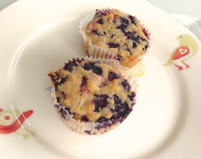 blueberry peach muffins, gluten-free, dairy-free