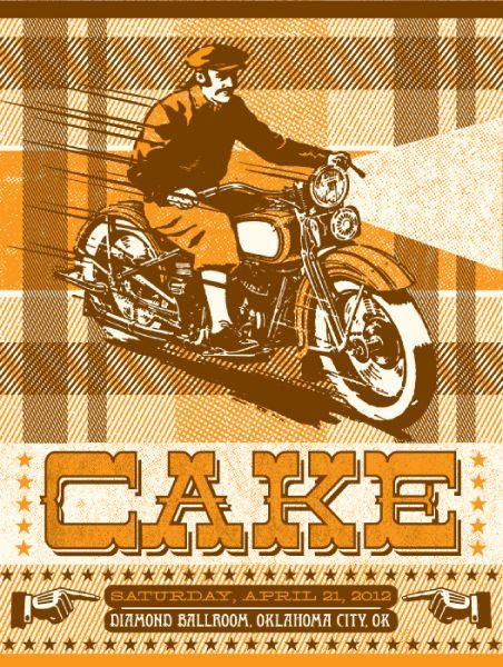 Status Serigraph: Status Serigraph, Oklahoma Cities, Cake Concerts, Graphics Design, Cake 2012, April 2012, Concert Posters, Concerts Posters, Okc April
