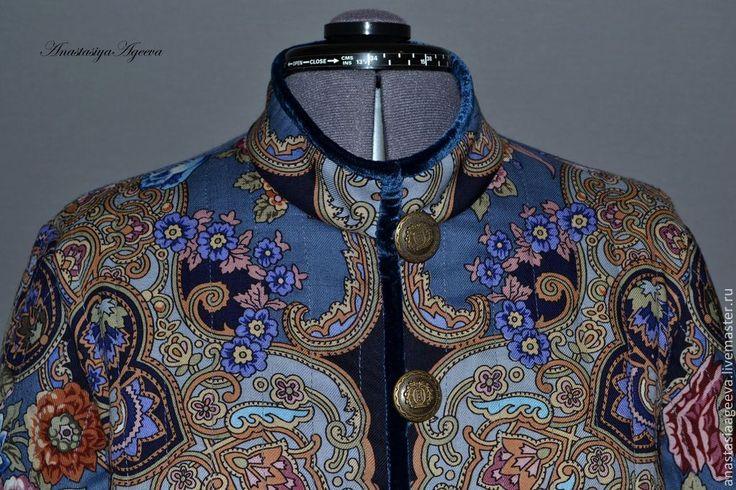 """Купить Куртка из платка """"Радоница""""- 2. - цветочный, Куртка из платка, одежда из платков, куртка на осень"""