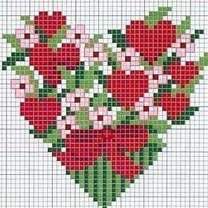 Valentine cross stitch.