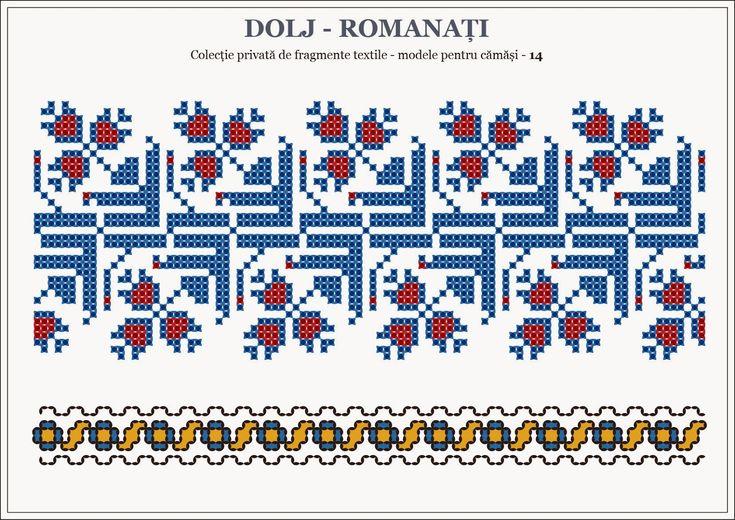 Semne Cusute Romanian Traditional Motifs Oltenia Dolj Rom Beading Romania